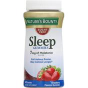 Nature's Bounty Sleep Gummies, 7 mg Melatonin, Sugar Free, Strawberry
