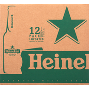 Heineken Beer, Premium, Malt Lager, 12 Pack