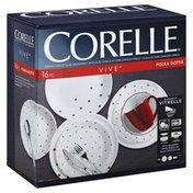 Corelle Dinnerware, Red, Polka Dottie
