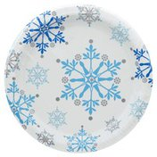 Party Creations Plates, Snowflake Swirls