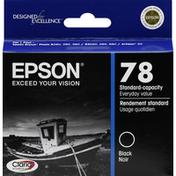 Epson Ink Cartridge, Standard Capacity, Black T078120
