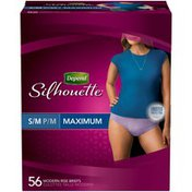 Depend Silhouette Maximum Absorbency S/M Black for Women Incontinence Briefs