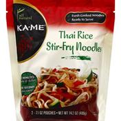 Ka-Me Stir-Fry Noodles, Thai Rice