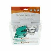 Full Circle Ziptuck Kids, Reusable Snack Bags, Dinosaur