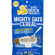 Little Duck Organics Cereal, Might Oats, Cinnamon!, Blueberries!, For Babies 6+ Months