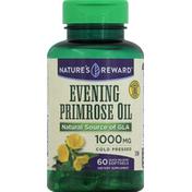 Nature's Reward Evening Primrose Oil, 1000 mg, Quick Release Softgels