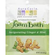 Aura Cacia Invigorating Ginger Mint Aromatherapy Foam Bath