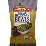 Garden of Eatin' Tortilla Chips, Organic, Blue Corn Bowls