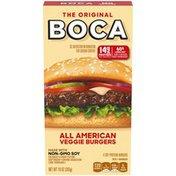 Boca All American Veggie Burgers with Non-GMO Soy