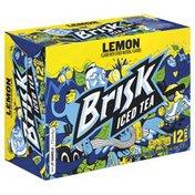 Brisk Iced Tea With Lemon ( -  Fluid ) 144 Fluid    Aluminum Can