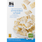 Food Lion Cereal, Shredded Wheat, Bite-Sized Frosted, Sweetened