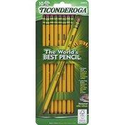 Ticonderoga Noir Pencils, Sharpened, Soft, No. 2 HB