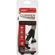 Copper Fit Copper Infused Calf Sleeves - S/M - Black