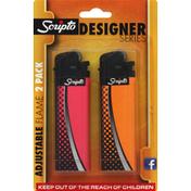 Scripto Lighter, Adjustable Flame, 2 Pack,