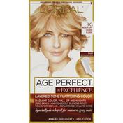 Excellence Permanent Haircolor, Medium Soft Golden Blonde 8G