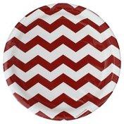 Creative Converting Plates, Chevron-Classic Red