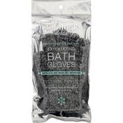 Cleanlogic Bath Gloves, Exfoliating, Purifying Charcoal, Detox