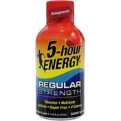 5-Hour Energy Energy Shot, Regular Strength, Pomegranate Flavor