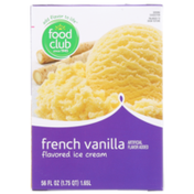 Food Club French Vanilla Flavored Ice Cream