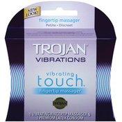 Trojan Vibrating Touch Fingertip Massager W/Condom Massager