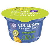 Light + Fit Nonfat Mango Kiwi Icelandic Style Yogurt with Collagen & Antioxidants