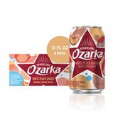 Ozarka Sparkling Water, White Peach Ginger