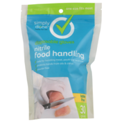 Simply Done One Size Fits Most Latex Free Nitrile Food Handling Disposable Gloves