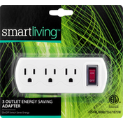 Smart Living Adapter, Energy Saving, 3 Outlet