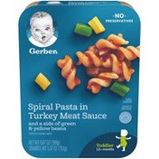Gerber Lil Entrees Spiral Pasta in Turkey Meat Sauce with Green and Yellow Beans