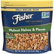 Fisher Fisher Walnut Halves &  Non GMO No Preservatives Naturally Gluten Free