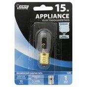 Feit Electric Light Bulb, Appliance, Clear, 15 Watt