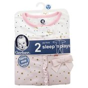 Gerber Sleep 'N Plays, Zip Front, 0-3 M