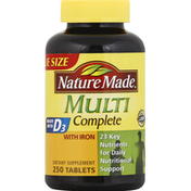 Nature Made Multi Complete, with Iron, Tablets, Value Size