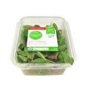 Simple Truth Organic 50/50 Blend A perfect balance of tender spinach & spring mix leaves