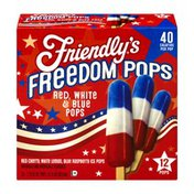 Friendly's Freedom Pops Red, White & Blue - 12 CT