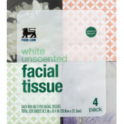 Food Lion Facial Tissue, White, Unscented