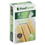 FoodSaver Heat-Seal Rolls, 8 Inch