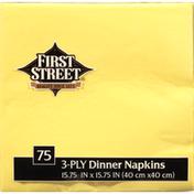 First Street Mimosa 3 Ply 15x15 Napkin