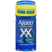 Arrid Extra Extra Dry Ultra Fresh Solid Twin Pack Arrid XX Extra Extra Dry Ultra Fresh Solid Antiperspirant Deodorant
