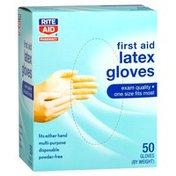 Rite Aid Latex Medical Gloves, Powder Free 50 ct.