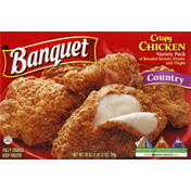 Banquet Crispy Chicken, Country, Variety Pack