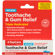 TopCare Toothache & Gum Relief Severe Oral Pain Reliever; Astringent Blue Gel