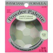 Powder Palette® 1639 Green Multi-Colored -- 1639C Verte Multicolore Face Corrector -- Poudre Correctrice