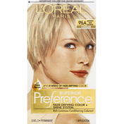 L'Oreal Superior Preference Fade-Defying Color + Shine System 9 1/2 A Lightest Ash Blonde