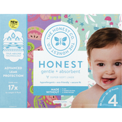 The Honest Company Diaper, Size 4 (22-37 Pounds), Bunnies/Sliced Fruit