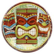 Party Creations Plates, Tiki Time