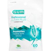 GUM Flosser Picks, Extra Strong Floss, Fresh Mint