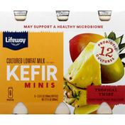 Lifeway Milk, Lowfat, Tropical Twist, Cultured, 6 Pack
