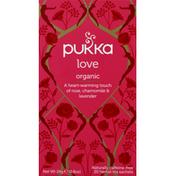 Pukka Herbal Tea, Organic, Love, Tea Sachets
