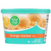 Food Club Orange Sherbet
